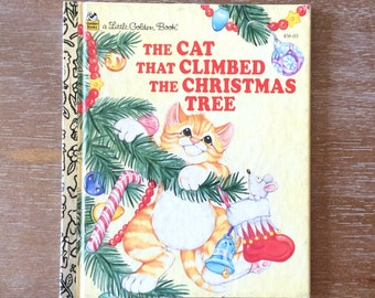 Little Golden Book  The Cat That Climbed The Christmas Tree