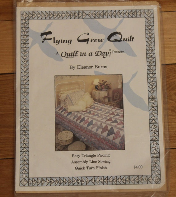 Vintage Quilt In A Day Pattern Flying Geese By Eleanor Burns Etsy