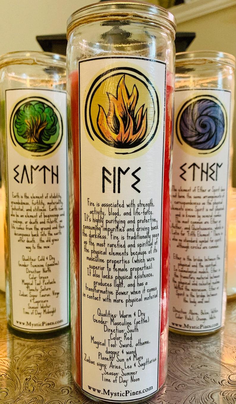 5 Elements Prayer Candle Set