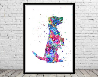 Jack russell terrier, Jack russell, Jack russell dog, watercolor Jack russell, Jack russell print, dog print, home decor, watercolor dog