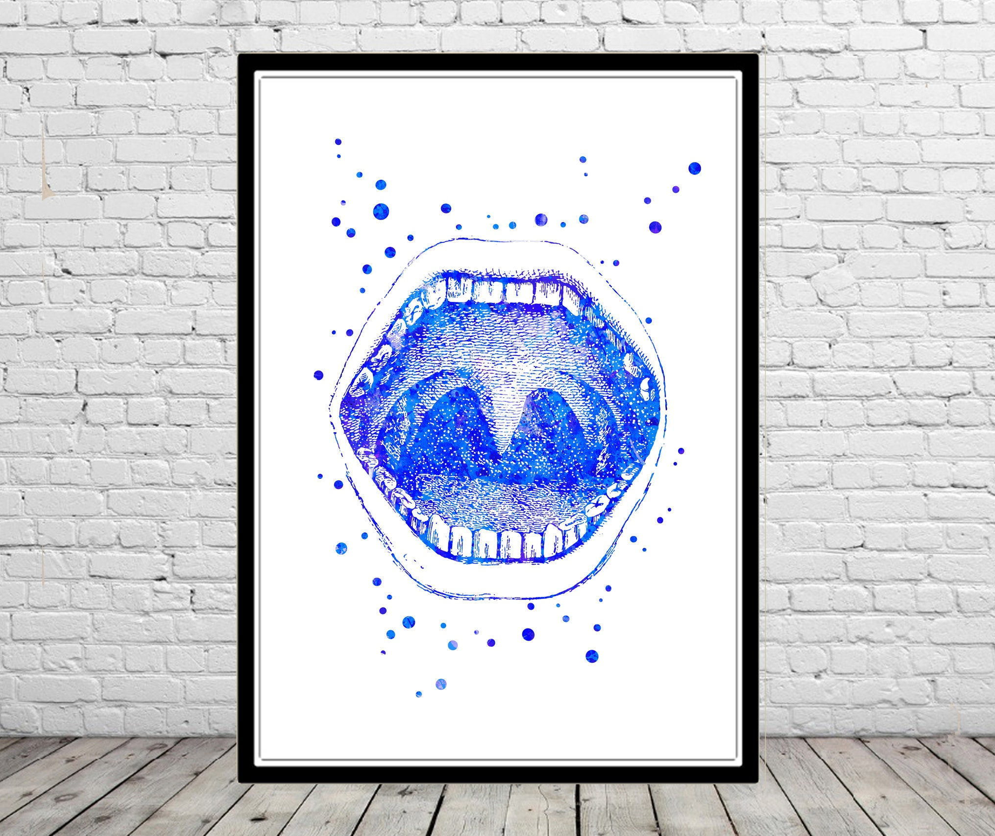 Mouth Anatomy Human Mouth Watercolor Mouth Medical Art Etsy