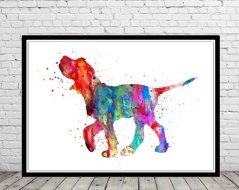 Italian Spinone, Italian Spinone watercolor, Italian Spinone dog, Spinone, watercolor print, animal art, dog, Spinone Italiano  (4472b)