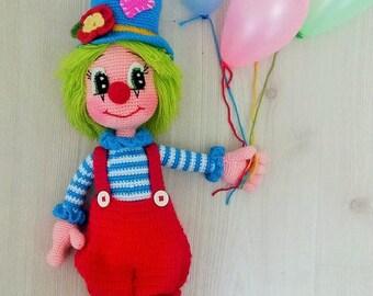 Nette Clown 2 Amigurumi Häkelanleitung Pdf Etsy