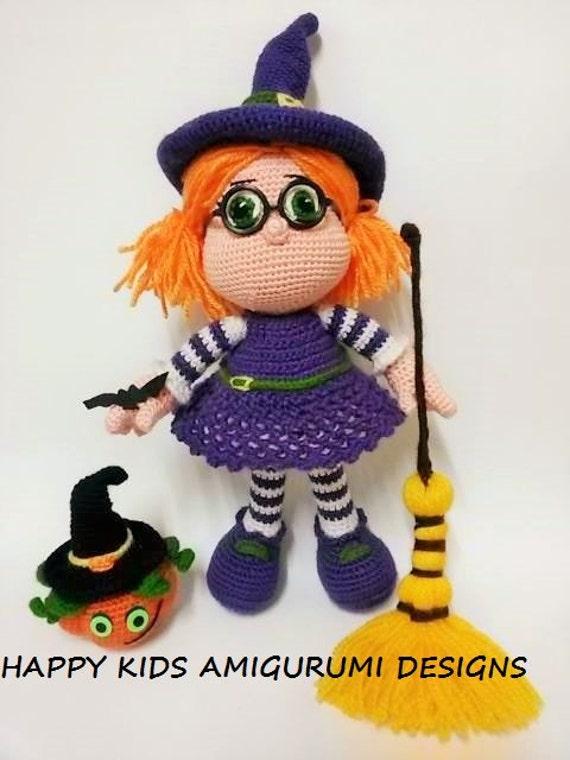 Amigurumi Häkelanleitungen von K and J Dolls: Kleine Hexe ... | 760x570