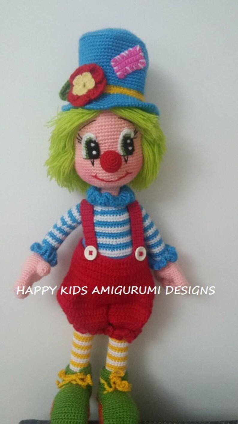 Dewey The Clown Amigurumi pattern by Deanna Albon | Amigurumi de ... | 1412x794