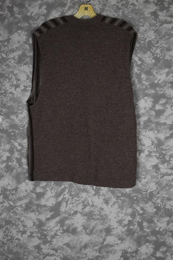 1940's or 1950's Men's Knit Vest - Wool/Orlon - image 5