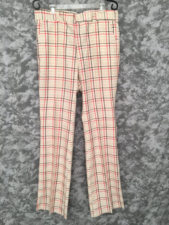 1970's Plaid Bell Bottoms (Deadstock)