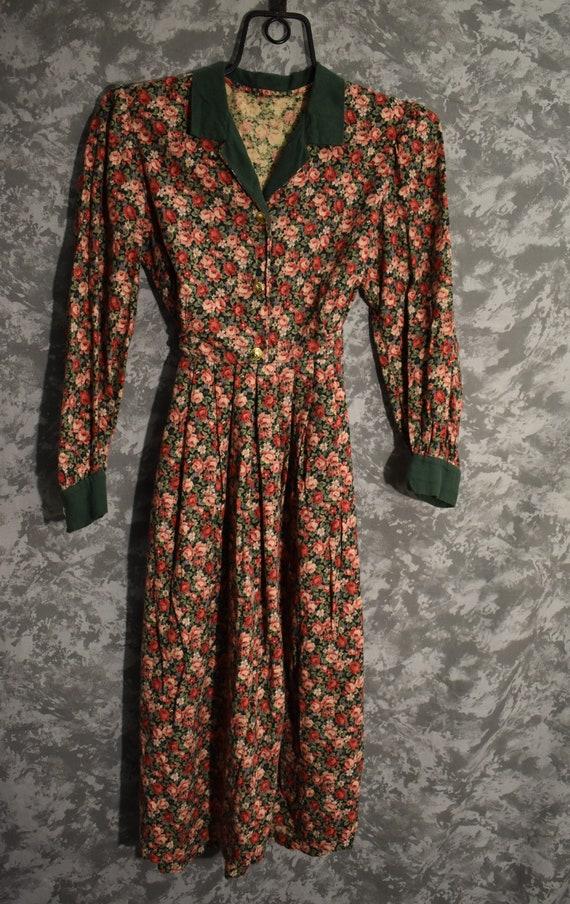 1980's Floral Dress