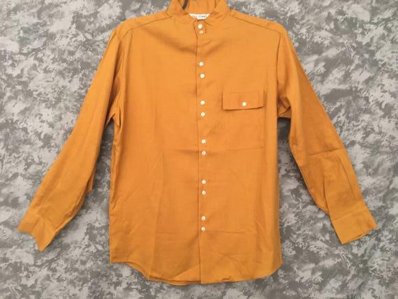 1960's Mustard Yellow Nehru Shirt
