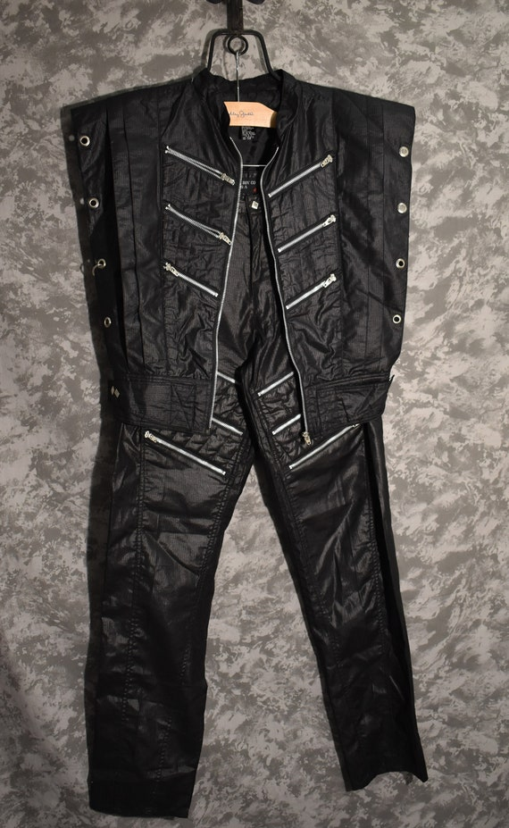 1980's Bugle Boy Zipper Pants & Vest Set