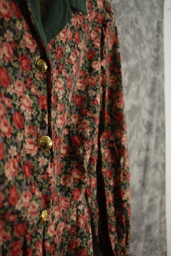 1980's Floral Dress - image 2