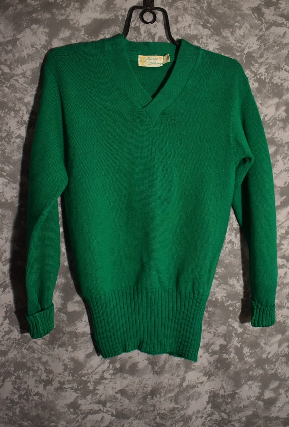 1940's or 1950's Green Wool Sweater