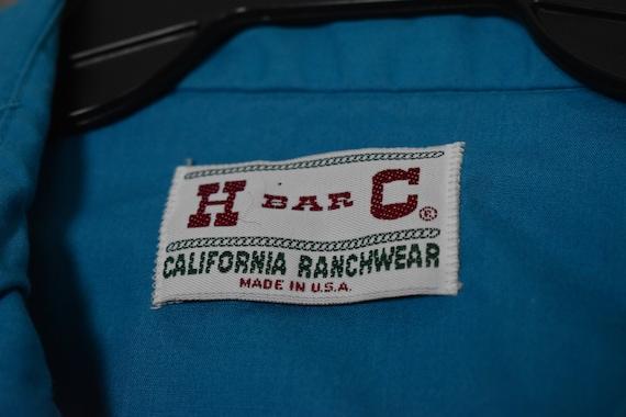1980's Turquoise H Bar C Women's Western Shirt - image 2