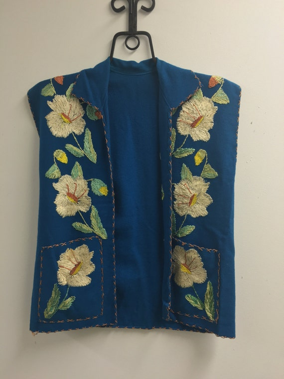 1940's Embroidered Mexican Tourist Vest