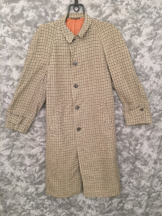 1950's Houndstooth Overcoat