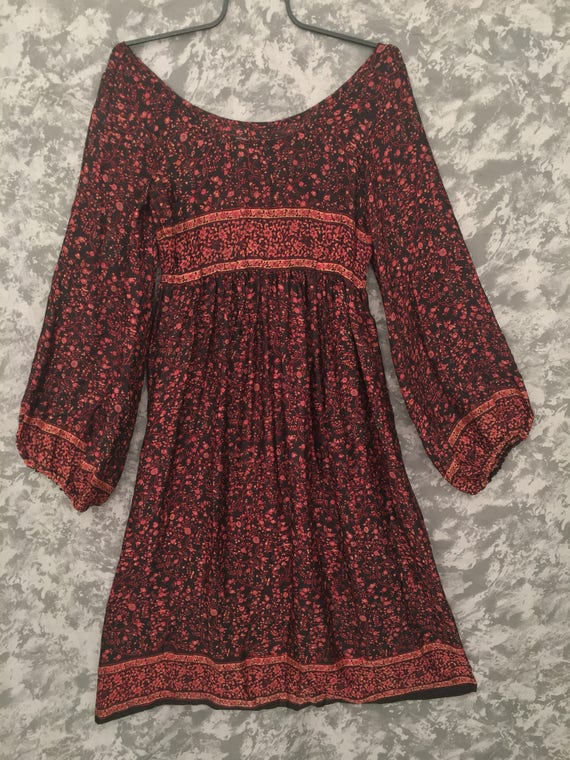 1960's Silk Hippie Dress Judith Ann