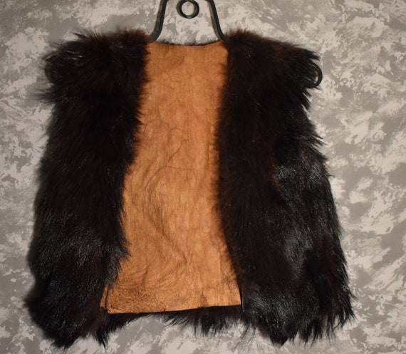1960's Black Bear Fur Vest