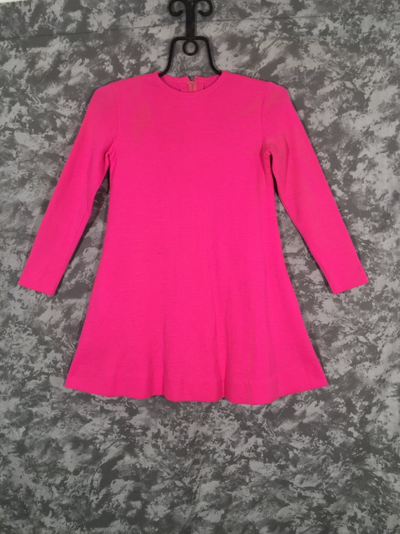 1960's Rudi Gernreich Hot Pink Mini Dress