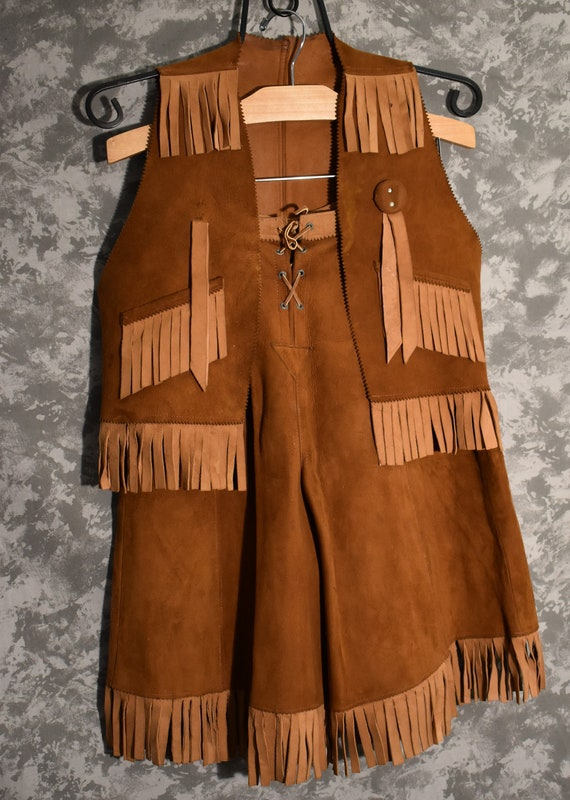 1950's Western Gaucho Shorts & Vest Matching Set