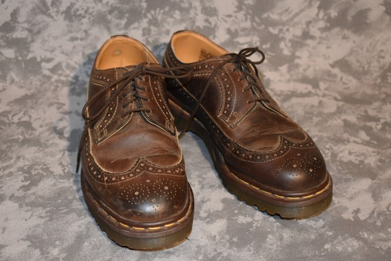 1990's Dr. Martens 5 Eye Wingtip Style Shoes