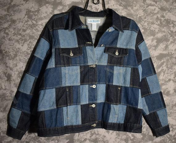 L.A. BLUES 1980's Patchwork Denim Jacket