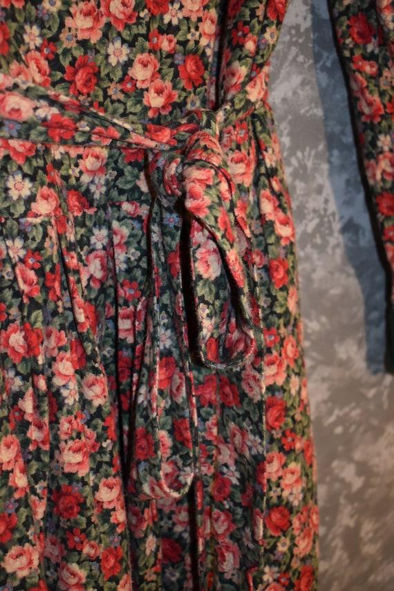 1980's Floral Dress - image 6