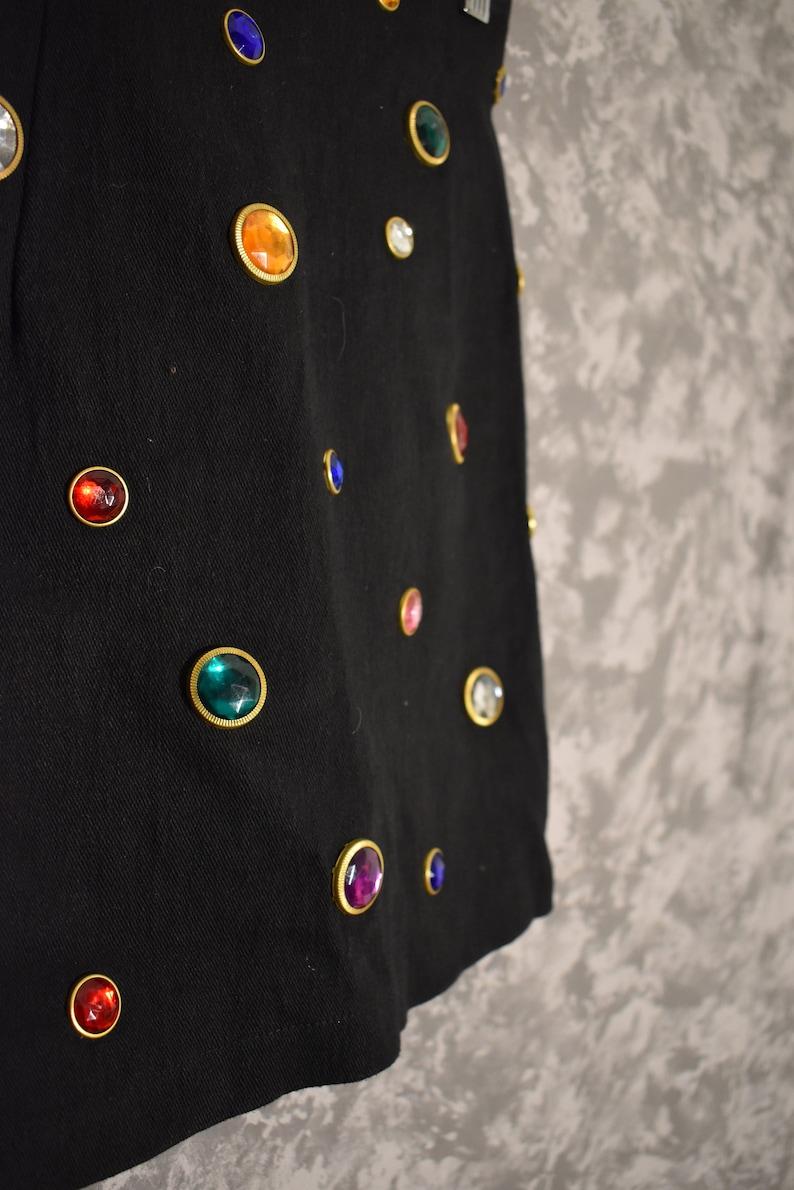1980/'s Jeweled Skirt /& Bandeau Top Set