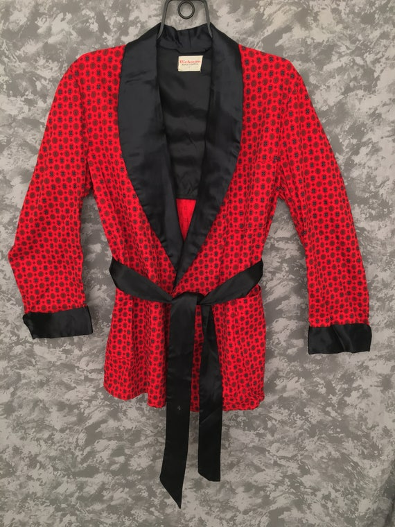 1950's Vintage Smoking Jacket & Belt