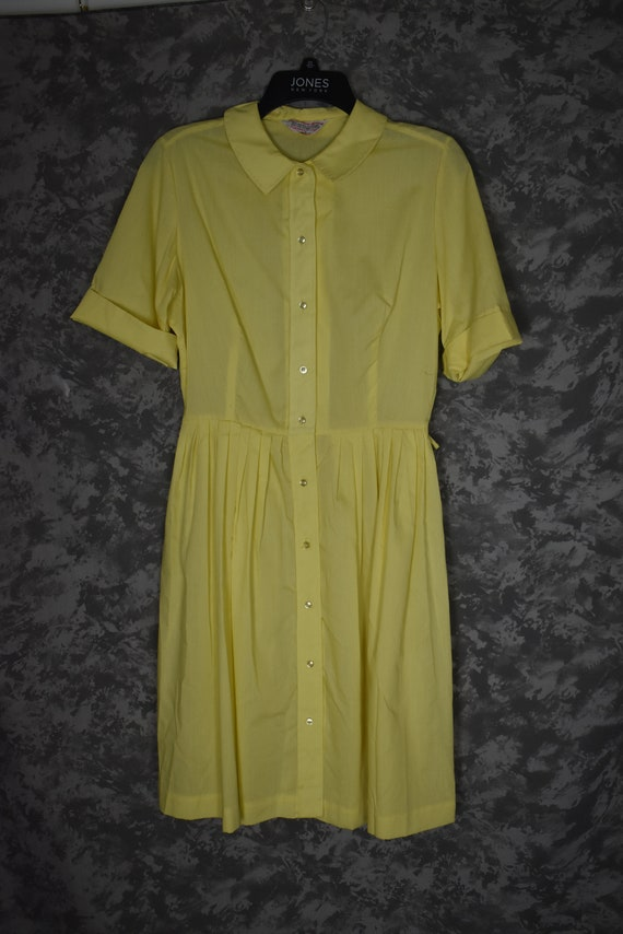 1950's or 1960's Yellow Dress