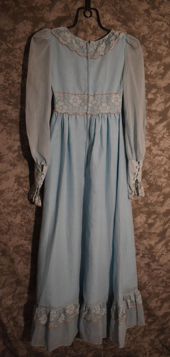 1970's Gunne Sax Black Label Long Dress - image 7