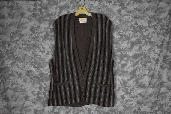 1940's or 1950's Men's Knit Vest - Wool/Orlon - image 1