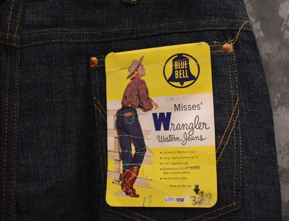 1950's WRANGLER Blue Bell Jeans Styled by Rodeo Be