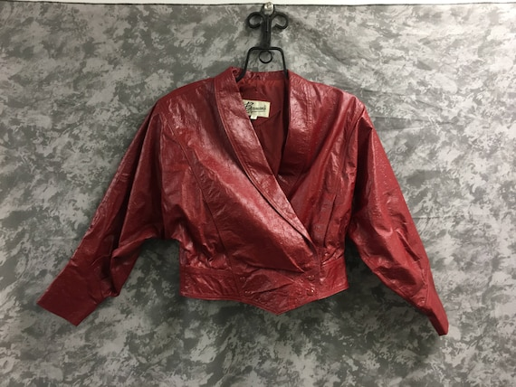 1980's Textured Leather Jacket