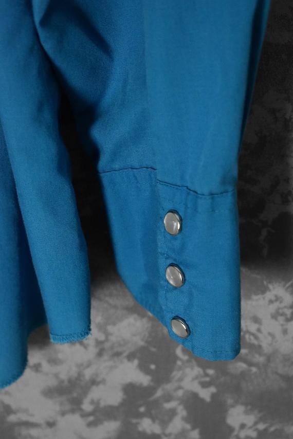 1980's Turquoise H Bar C Women's Western Shirt - image 5