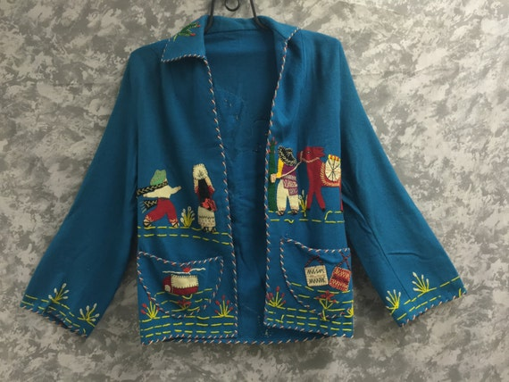 1940's/1950's Embroidered Mexican Jacket
