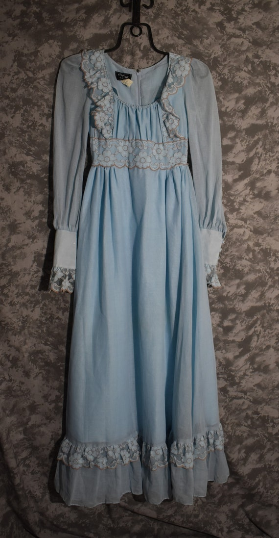 1970's Gunne Sax Black Label Long Dress