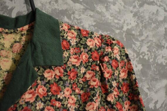 1980's Floral Dress - image 3