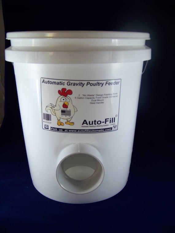 Superb NO WASTE Chicken / Duck Feeder 5 Gallon / 45 Lb. Capacity   Etsy