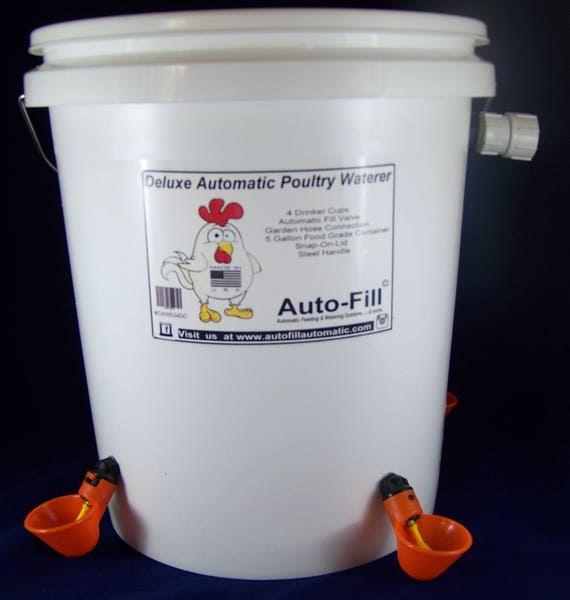 Automatic Drinker Bucket KIT,Cups,Hose Adapter Float Valve,chicken,quail,turkey