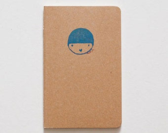 Illustrated notebook for traveling
