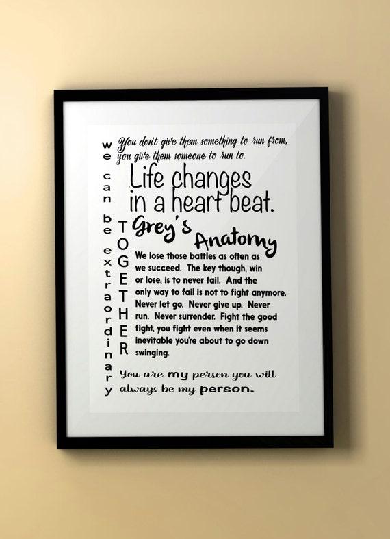 Grey\'s Anatomy/Grey\'s Anatomy Quote/Grey\'s Anatomy | Etsy