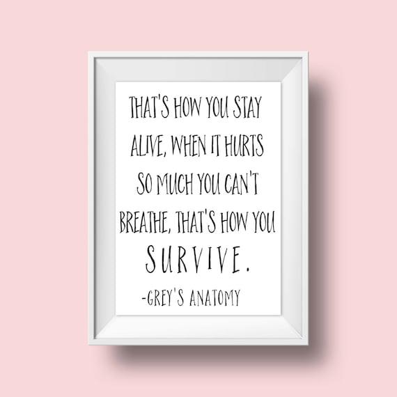 Grey's Anatomy Quotes Mesmerizing Greys AnatomyGreys Anatomy QuoteGrey' Anatomy Etsy