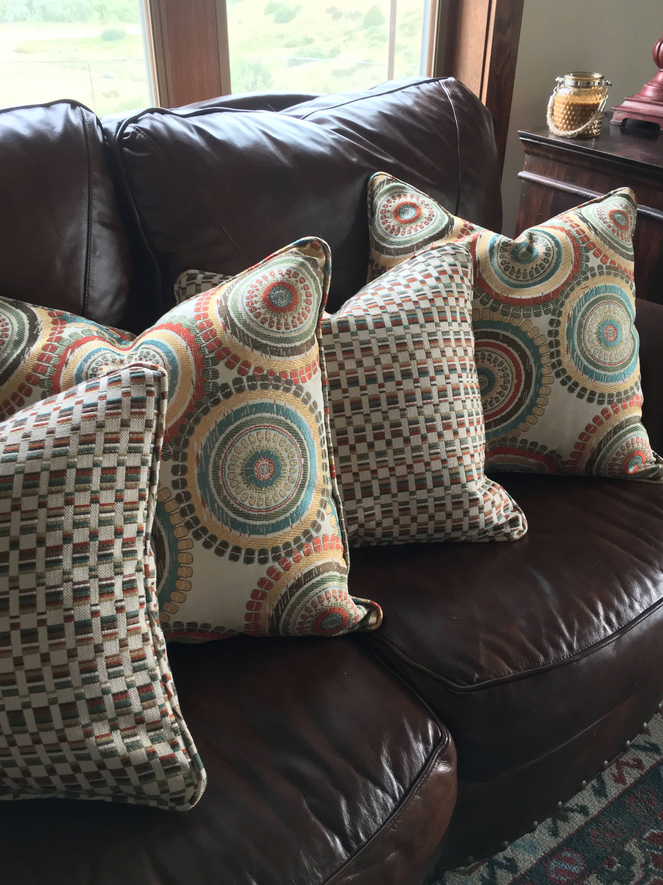 Custom made pillows from your own fabric throw pillow etsy - Fabric for throw pillows ...