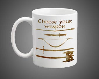 Middle Earth Weapons Mug