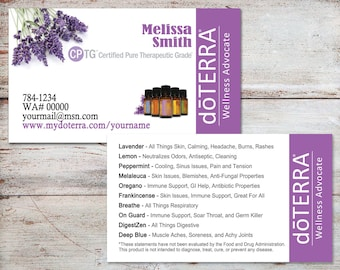 Doterra business cards etsy doterra business cards doterra cards essential oil business cards personalized business cards digital file or printed free shipping flashek Image collections