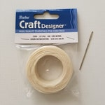 Waxed Linen Cord with Tapestry Needle.  Book Binding Tools