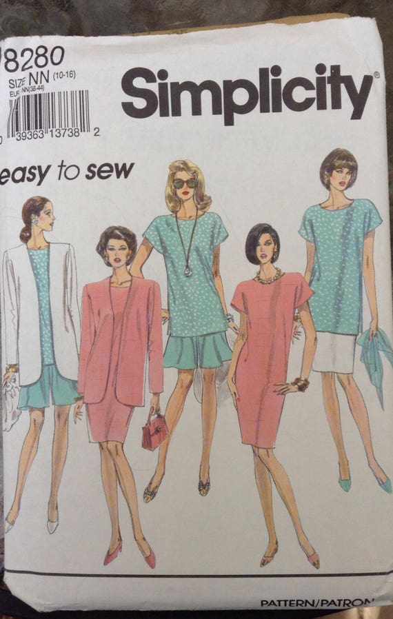 7399 VINTAGE Simplicity Sewing Pattern Half-Size Blouse Skirt Unlined Jacket
