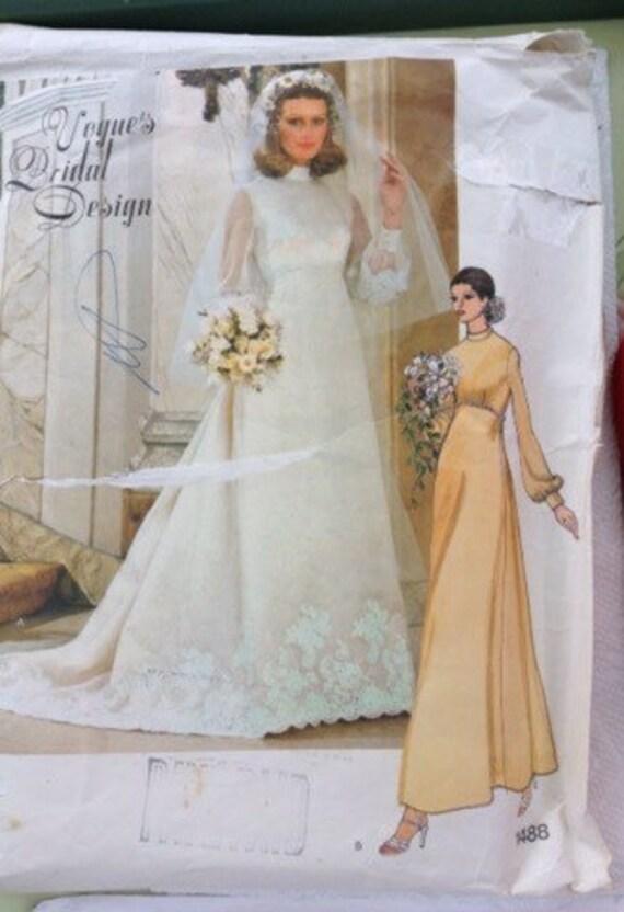Vogue Bridal Dress slip and veil sewing pattern | Etsy