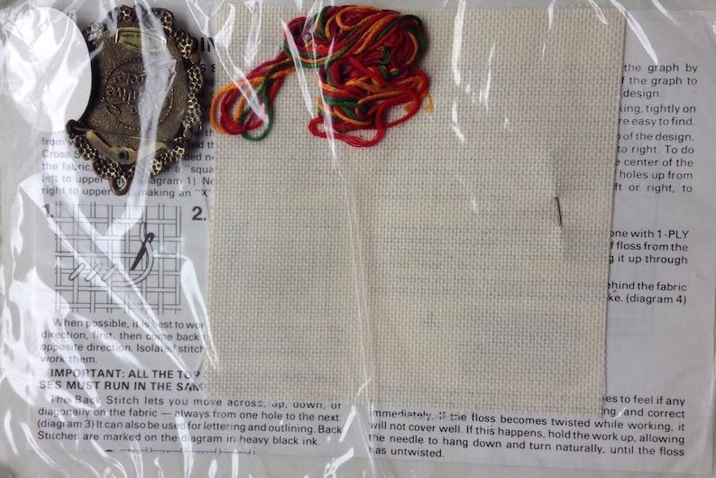 Petite poinsettias brooch cross stitch kit