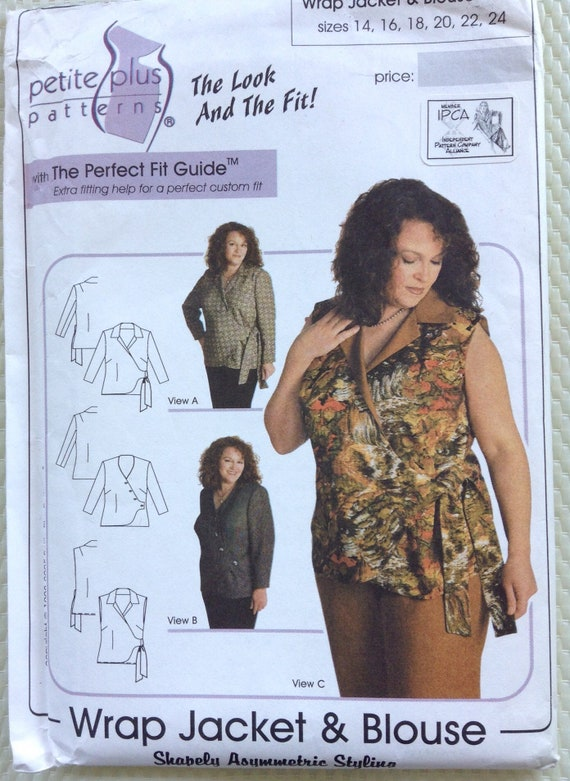 Wrap jacket and blouse petite plus sewing pattern